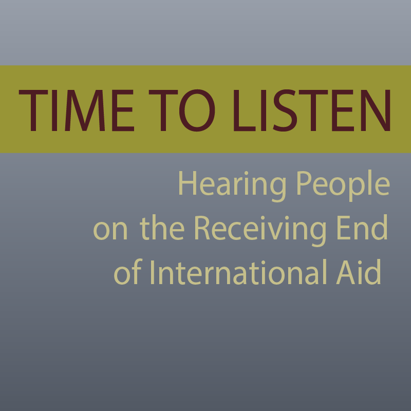 Hearing People on the Receiving End of International Aid