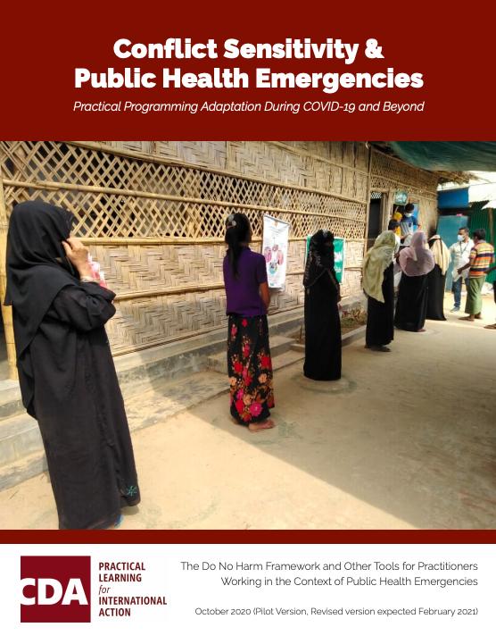 Conflict Sensitivity and Public Health Emergencies Resource publication