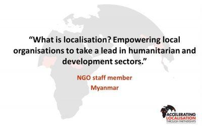 Partnerships in humanitarian action